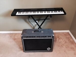 Vintage Keyboard and Amp