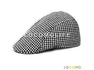 RETRO HOUNDSTOOTH CHECK CHECKER CAP- UNISEX