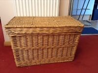 Wicker Basket with lid .