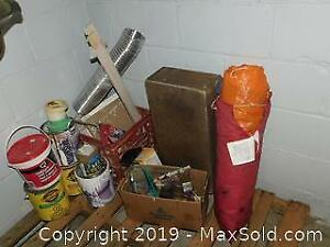 Paint Brushes, Tarp and More A