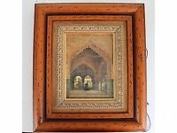 Beautiful Antique Picture with wooden frame 37x 42.5cm