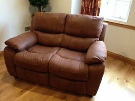 new unused brown faux suade 2 seater sofa