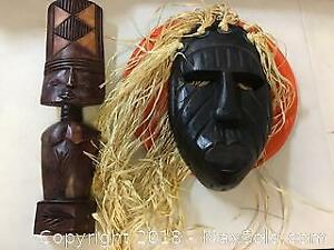 Children Of The Corn Wood Mask And Carving