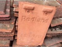 REDLAND - BS473550 Terracotta coloured concrete Roof Tiles. Hook