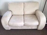 New suede 2 seater sofa in cream