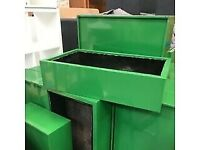 indoor garden plant vegetable with inside base green pot planter