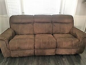 3 seat recliner sofa and chair