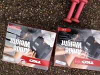 Two Sets of TKO Ankle Weights - Brand new