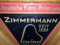 Upright Zimmermann Wooden Piano Brand New Condition