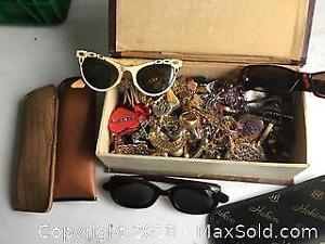 Collection of Costume Jewelry / Vintage Sunglasses