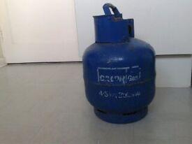 Calor gas bottle FULL, 4.5kg, Butane, BLUE bottle.