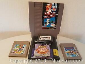 Retro Video game cartridges x 4