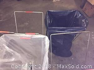 4 Garbage Stands. perfect to hold the bags for bottle drives, or contractors bags.