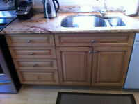 Solid Maple Kitchen Cabinets and Granite Countertops