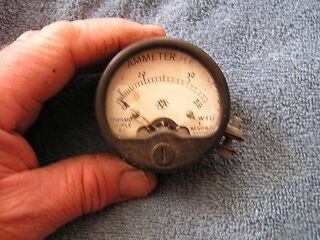 Vintage Ammeter Hf Thermo Couple Gauge 1939