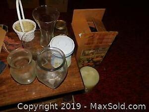 Vases, Candle, Bakeware Set A