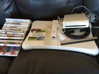 Wii game with board and 13 games