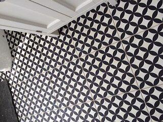 Bertie Black And White Feature Ceramic Tiles 2 Boxes