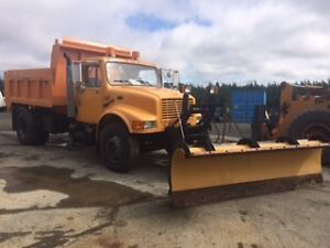 International DT466 with plow and dump spreader St. John's Newfoundland image 1