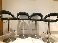 Set of 4 Kitchen Bar Stools