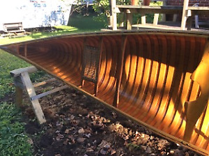 Beautiul Cedar Strip Canoe!