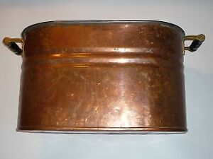 Copper container for firewood