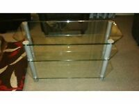Glass Tv Stand. Perfect condition just not needed anymore.