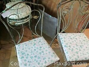 Wrought iron chairs - set of 4 - Cat B