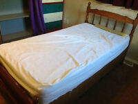 Twin bed with draws