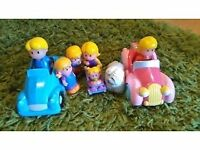 Happyland cars and figures
