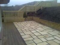 Ideal garden & landscape services flagging fencing paving decking walls turfing trees jet washing
