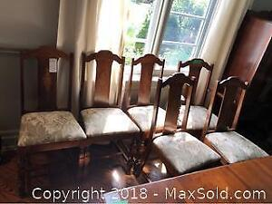 6 Antique Dining Chairs C