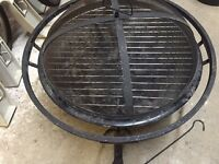 Firepit with cooking rack