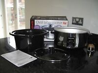 MORPHY RICHARDS OVAL SLOW COOKER * ORIGIONAL PACKAGING & BOX *