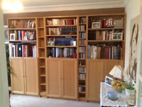 Light Oak finish IKEA BILLY bookcase in excellent condition
