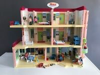 Playmobil Furnished Hotel 5265 with extra floor and gift shop