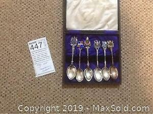 Souvenir Spoons From England In Box