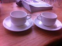 White espresso mugs