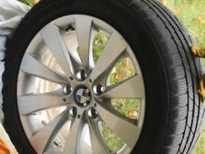 BMW 328i snow tires and BMW rims