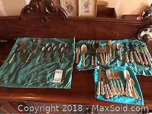 Silver Plate And Stainless Steel Flatware - A