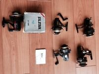 Various old spinning reels (available separately or together)