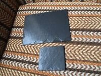 Handmade Welsh slate placemats (6) and coasters (12)