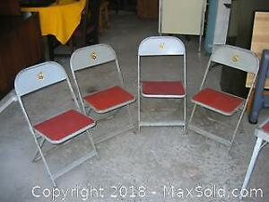 Vintage Child's Folding Table an Four Chairs B