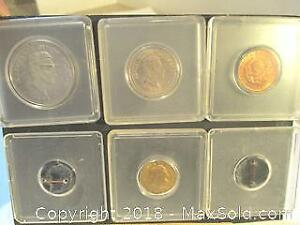 Set Of Four 1950's & 60's Liberation Of Columbia Coins.