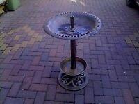 Bronze effect plastic bird table