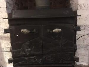 Poêle à bois -campagnard - Wood stove