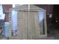 used shed and fencing