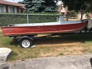 Aluminum Boat and Northtrail trailer