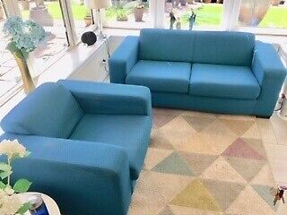 Sofa 3 Seater And Armchair Teal Colour Argos Ava Collection In Motherwell North Lanarkshire Gumtree