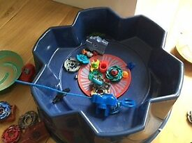 Beyblades with arena